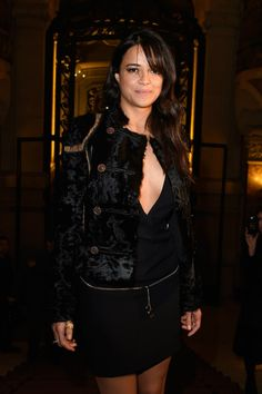 Michelle Rodriguez wore a look from Versus Spring 2015