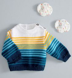 This Pin was discovered by Chr Baby Boy Knitting Patterns, Baby Sweater Patterns, Baby Cardigan Knitting Pattern, Knitting For Kids, Knitting Designs, Knit Patterns, Knitted Baby Cardigan, Baby Boy Sweater, Knit Baby Sweaters