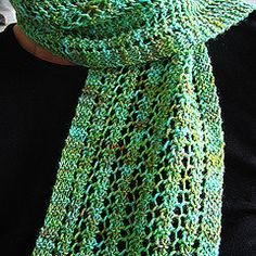 Ravelry: One Row Lace Scarf pattern by Turvid///// Needle size US 10 - 6.0 mm Yardage 170 - 220 yards (155 - 201 m) Sizes available 5 x 60 inches