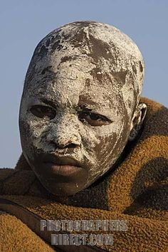 Xhosa boy in initiation period after circumcision , Coffee Bay , Wild Coast , Eastern Cape , South Africa stock photo