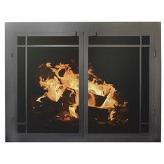 "Ironhaus Elegant Series Fireplace Glass Door Finish: Textured Copper, Size: 24"" H x 43"" W x 3"" D"