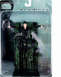 2000 N2 Toys The Matrix Action Figure - Trinity in Air by N2 Toys