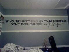 If you're lucky enough to be different, don't ever change