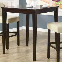 Coaster Furniture 102587 Square Pub Table in Cappuccino Brown, Transitional Pub Dining Set, Pub Table Sets, Pub Set, Solid Wood Dining Table, Dining Table In Kitchen, Dining Room Sets, Pub Tables, Coaster Furniture, Bar Furniture