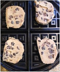 quick waffle iron chocolate chip cookies.