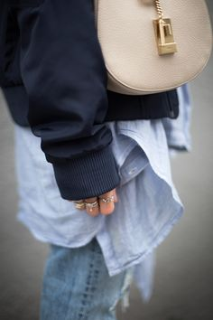 black palms layering bomerjacket chloé drewbag levi´s streetstyle