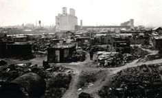 A Brooklyn Hooverville in Red Hook Park during the Great Depression