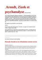 Arendt, Zizek et psychanalyse & Kristeva