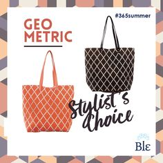 The hottest trend now is: geometric shapes. So, if you want a bag that you can easily carry both to the beach and the city, go for one of these two beauties! The only question is: orange or brown? Find them at www.ble-shop.com Trending Now, Geometric Shapes, Stylists, Tote Bag, This Or That Questions, Orange, City, Brown, Beach