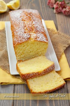 Soft and butter free lemon plumcake recipe I fancy sweet Baby Food Recipes, Sweet Recipes, Cake Recipes, Sweet Butter, Torte Cake, Yogurt Cake, Plum Cake, Pastry And Bakery, Fake Food