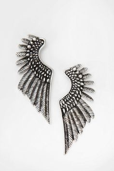 Feathered Wing Post Earring