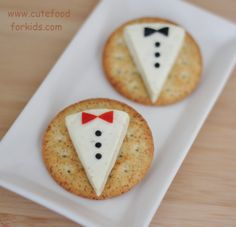shower DIY projects:: tuxedo crackers