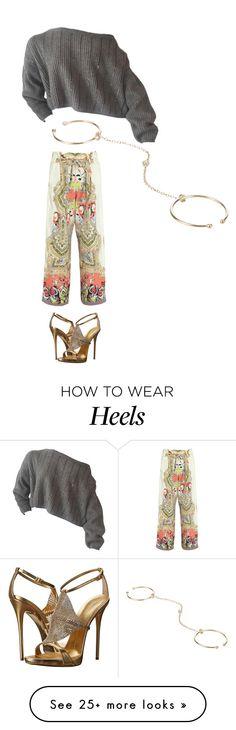 """sweater. print pant. heels."" by kohlanndesigns on Polyvore featuring Etro, Giuseppe Zanotti and Loren Stewart"