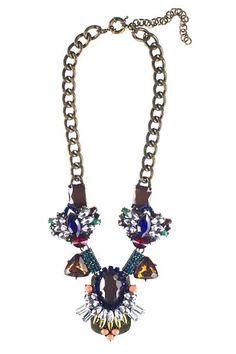 Eye Catcher Necklace- Brown | Maple Street Boutique