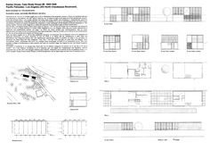 Eames House, Ray and Charles Eames's residence. Architecture Concept Diagram, Building Sketch, Pacific Palisades, Charles & Ray Eames, House Drawing, Glass House, Case Study, My Dream Home, Abstract