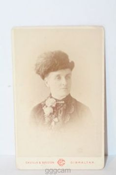 CDV: LADYWITH FEATHER HAT BY CAVILLA & BRUZON OF GIBRALTAR.