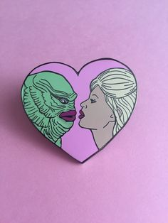Hard enamel pin with one of my original illustrations