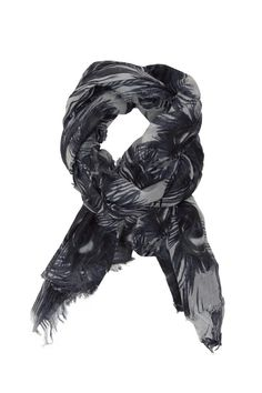 Soft #scarf in #classic colours with #peacock #print