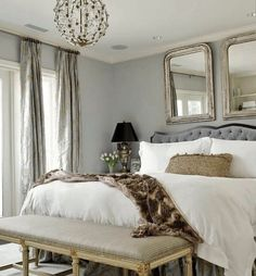 mixed with antique gold can make a classic soft look  Classic Chic Home: The Softer Side of Grey