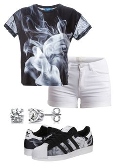 """Untitled #37"" by mira-alsina ❤ liked on Polyvore featuring adidas Originals, Pieces and BERRICLE"