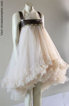 Tutu Steampunk Wedding Tulle Tutu Ballet Skirt Bridal by chrisst