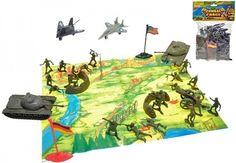 Sada vojáci s mapou a doplňky v sáčku - 0