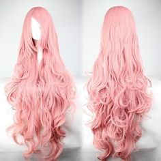 Long Vocaloid Luka Pink Wavy Anime Cosplay –shop at www.costwe.c