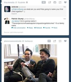C'mon, Patrick! Even Pete ships you guys ;) <<< No. No Petrick.