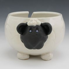 Pawley Studios Sheep Yarn Bowls for Knitting and Crocheting