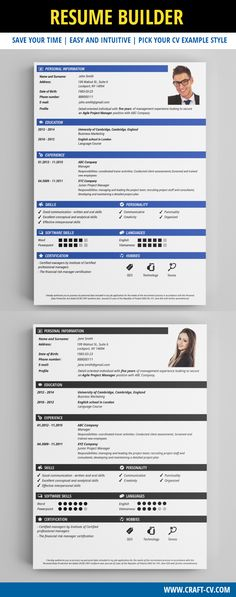 Simple Resume #resume #resumetemplate Creative CV Templates - best resume maker