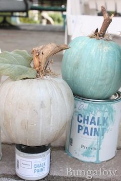 Chalk Paint Pumpkins - 101 Fabulous Pumpkin Decorating Ideas - Photos