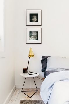 How to Choose the Perfect Nightstand & the Most Inspiring White Nightstands Home Bedroom, Bedroom Decor, Bedroom Ideas, Budget Bedroom, Bedroom Designs, Bedroom Wall, Bedroom Furniture, Master Bedroom, A Frame Cabin