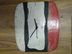 Horloge murale en raku