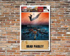 BRAD PAISLEY Brad Paisley 12x18 Print Brad Paisley Album Art Brad Paisley Print Brad Paisley Poster Instagram Country Music Guitars