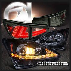 2008 Lexus Is350 Custom >> Lexus 2006-2008 IS250 IS350 JDM Black LED Rear Tail Brake Lights Pair   2008 Lexus IS250 ...