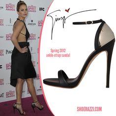 Jennifer Lawrence in Giuseppe Zanotti ankle-strap sandals
