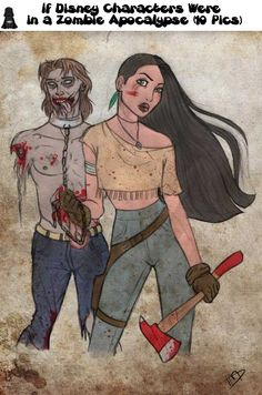 If Disney Characters Were in a Zombie Apocalypse (10 Pics)