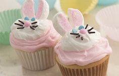 Bunny Cupcake Recipe | Betty Crocker | Easter Cupcakes