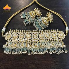 Shop for Anushka Sharma jewellery online in a wide range of colors. Marriage Jewellery, Ear Cuff Jewelry, Bollywood Jewelry, Blue Bridal, Anushka Sharma, Pearl Choker, Ivory Pearl, Indian Jewelry, Bridal Jewelry
