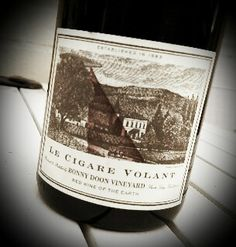 """""""One of my favorite wines, Le Cigare Volant. Wine Reviews, Cigars, Wines, Bottle, Flask, Cigar, Smoking, Jars"""