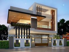 86 Architectural Design Pictures for Residential Buildings Modern Exterior House Designs, Modern House Facades, Modern House Design, Modern Bungalow Exterior, Minimalist House Design, House Outside Design, House Front Design, Small House Design, 2 Storey House Design