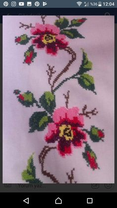 Cross Stitch Flowers, Cross Stitch Embroidery, Needlework, Lily, Crochet Carpet, Herb, Bangs For Round Face, Knit Flowers, Trapper Keeper