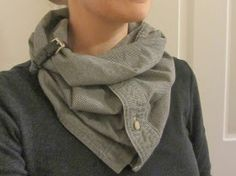 Refashion Co-op: 10 minute project: men's shirt into infinity scarf