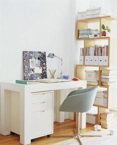 Desk + Bookshelves