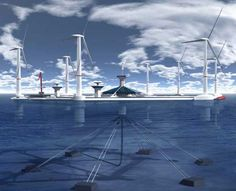 Attempting to meet the EU requirement of 10 percent renewable energy by 2020 Malta (the island country near Sicily) is considering to build the floating wind farm. A project by Hexicon (Sweden) includes a platform with 36 turbines anchored by cables to the sea bed. If implemented this 54 megawatts floating farm would become the largest one in the world.
