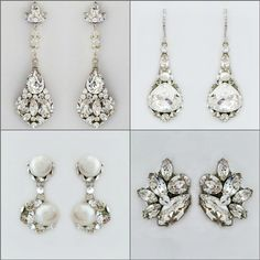Bridal Earrings tips & advise from the Perfect Details blog:  Bridal Earrings. Finding the best earrings for your face shape & Wedding Day style. Useful tips for purchasing bridal & fashion earrings online.