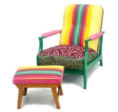 fun chair and ottoman!