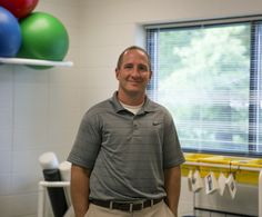 "Jeff Beer, Associate Professor of Exercise and Sport Sciences ""So when my students graduate, my biggest goal is to tell them, 'Look, I am training you to be an Athletic Trainer, I am training you to get that certification, but my goal is for you to walk across that stage and not only be an Athletic Trainer, but also to be a good person ..."""
