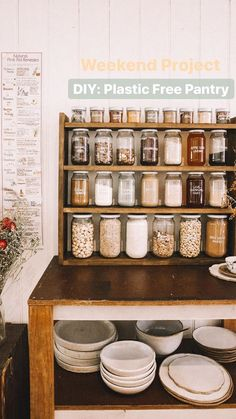 Plastic Free Pantry Goals (and the easy way to get those pesky labels off glass jars!) Plastic Free Pantry Goals (and the easy way to get those pesky labels,
