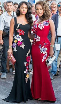 ♡How gorgeous? Left or right?!. @marjorie_harvey & daughter  #NigerianWedding